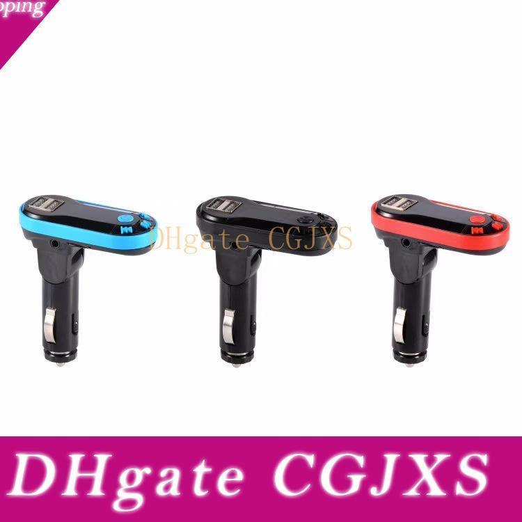 Hot Transmetteur Fm Double Chargeur USB à bas prix Kit de voiture Bluetooth Fm Adaptateur Radio voiture Bluetooth support Tf Carte Usb Flash Drive Aux Mieux S7