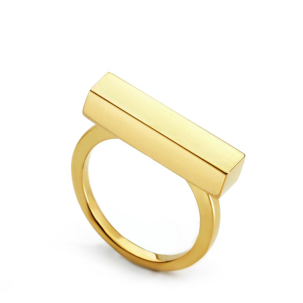 Junerain progettista di marca Cuboid anello di figura di amore anelli di barretta delle coppie per le donne svegli da sposa monili di modo dell'anello all'ingrosso Anel Feminino