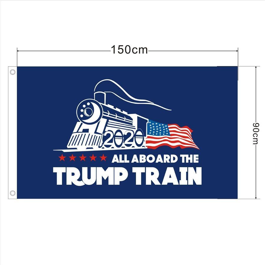 Donald Trump 2020 Bandera Keep America Gran Donald para el presidente USA Flags poliéster con ojales de latón 3 x 5 pies azules del partido de la decoración # 227