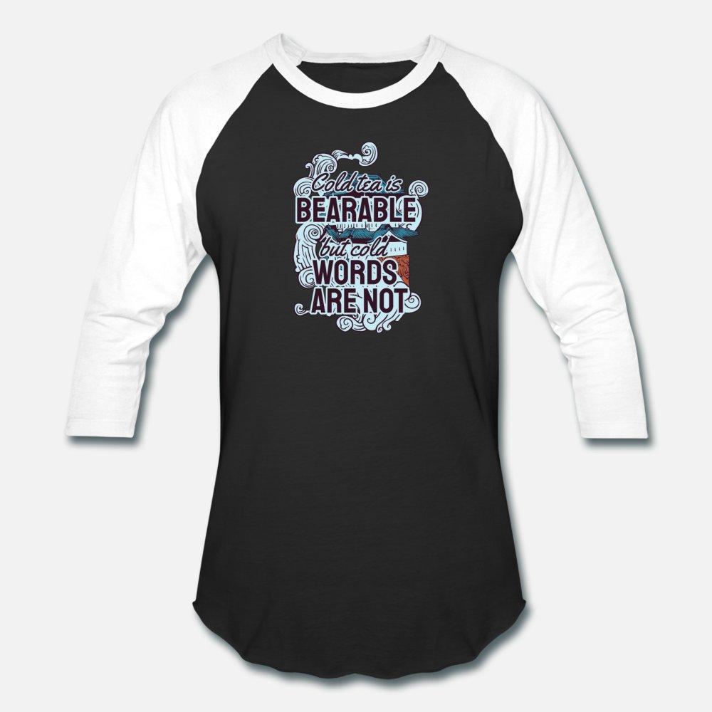 Soğuk Çay Is Bearable Tişörtlü Erkekler Kişiselleştirilmiş% 100 Pamuk O-Yaka Biçimsel Çılgın Nefes Bahar Harf Gömlek