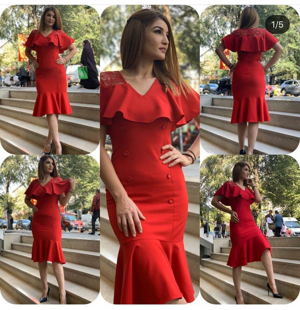 dvbIa oPgNQ Фиштейл новых женщин вечера юбка 2020 юбка вокруг шеи сплошной цвет листьев лотоса рукав рыбьего хвоста платье банкет вечернее платье платье