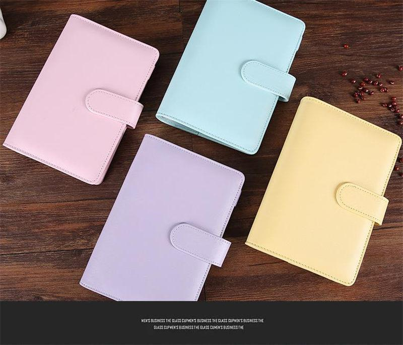 A6 Dizüstü Bilgisayar 8 Renkler Deri Not Defteri Çok fonksiyonlu Günlüğü El Kitabı Yüzük Shell Basit Taşınabilir Dizüstü Kılıfları Kılıfları