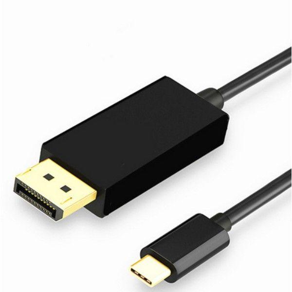 по DHL или EMS 20pcs USB3.1 Тип C до DP Дисплей Поддержка Port Adapter 4K Мужской HDTV конвертер кабель для Apple Macbook