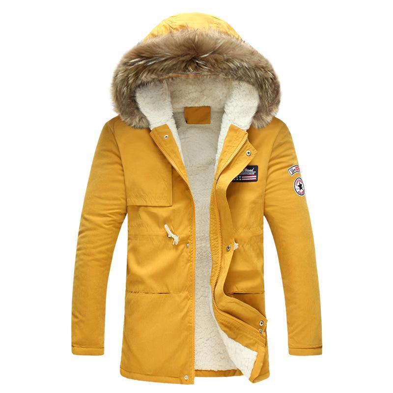 chaqueta de invierno 2020 nuevo de la manera a prueba de viento caliente de lana chaqueta de invierno Liner capa de los hombres Parka con capucha de los hombres de los hombres