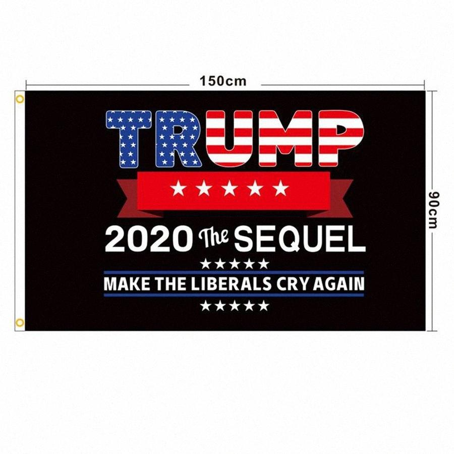Trump 2020 Flag 90*150cm Keep America Great Banners American President Election Flags Digital Print Slogan Flag DDA215 S1Fy#