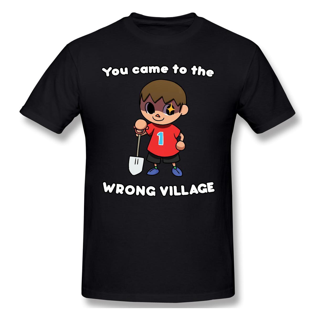 2020 Yeni Geliş SİZE Büyük satış T-Shirt% 100 Pamuk Animal Crossing Yetişkin Crewneck Yuvarlak Yaka ofertas YANLIŞ KÖYE GELDİ