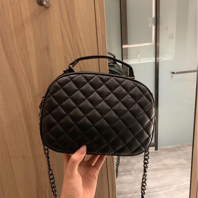 3 Colors Fashion Women Genuine Real Leather Handbag Classic Chain Purse Flap Crossbody Women Shoulder Bag Box
