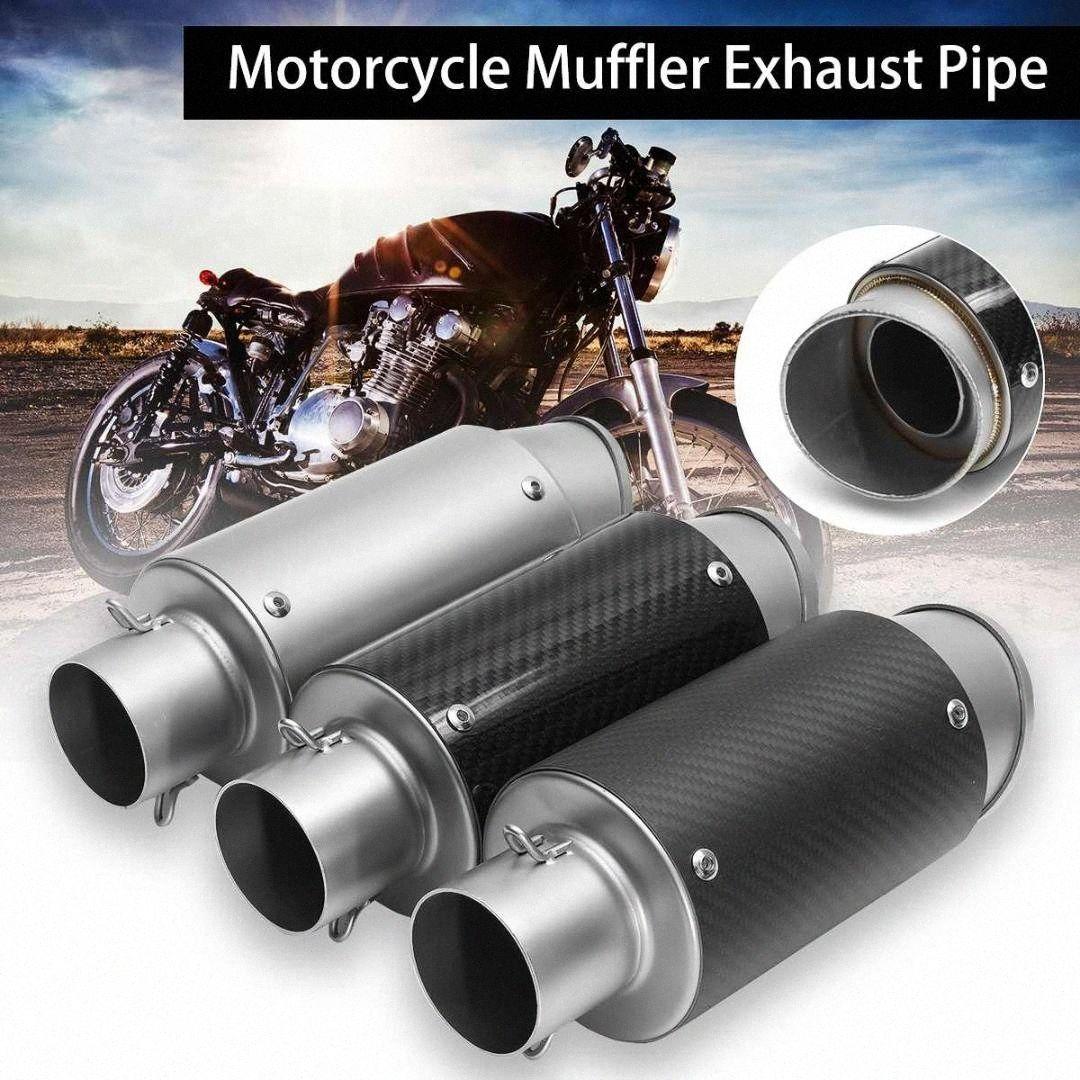 38-51mm de escape de acero inoxidable universal silenciador de la motocicleta tubo de escape para ATV Quad Para CB500 550 // Kawaki r6cU #