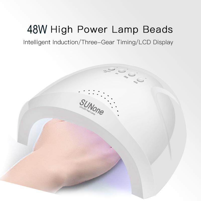 Nail secador UV uñas lámpara para la manicura en seco Secado del gel helado lámpara LED polaco 48 Sensor auto 30s 60s 90s Herramientas del arte