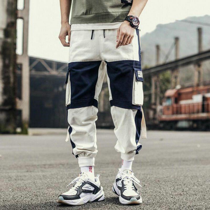 Cintas Harem Joggers hombres Pantalones Cargo Streetwear 2020 Hip Hop bolsillos Casual Pista pantalones masculinos pantalones de la manera Harajuku