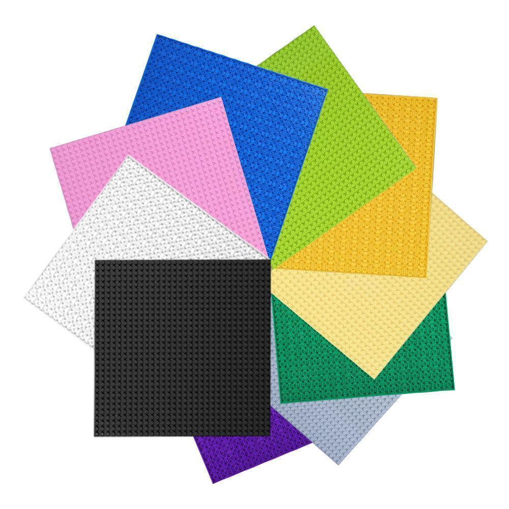 Placa 32 * 32 puntos pequeños del bloque hueco de doble cara Base, 25.6 * 25.6CM, 15 colores, DIY monta el juguete educativo, Navidad Kid Regalo de cumpleaños, 3-1