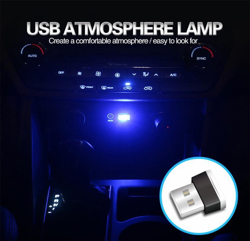Car USB LED Ambient Light Auto Decoratieve Lamp atmosphere light neon interior lighting for Marking