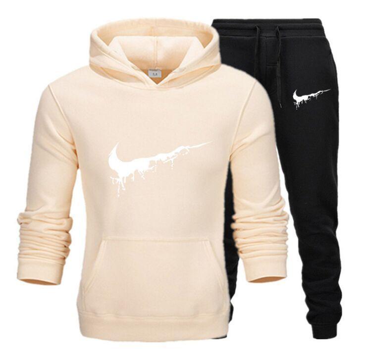 2020SS erkek s Giysi tasarımcısı Yeni Spor Winter 2020 Casual Eşofman büyük boy kadın İki Adet Suit Hoodies Kazak + pantolon ayarlar