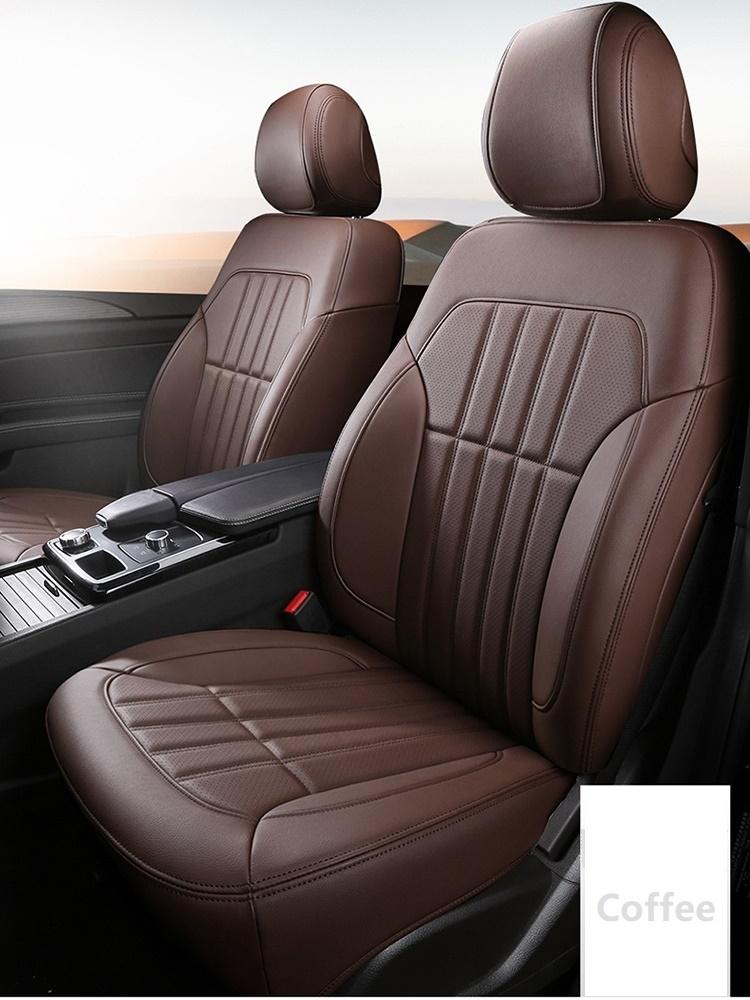 Custom Fit Car Interior Accessory Seat Covers Full Set For Five Seater Sedan Durable Leather 5 Pcs Seat Covers Cushion Mat Specific For SUV