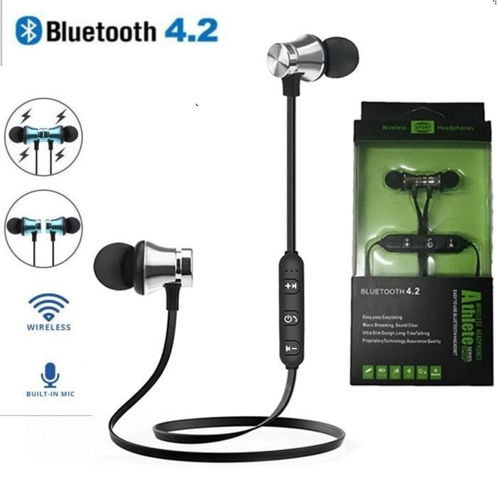 T11 Magnet Sport Kopfhörer BT4.2 Funk-Stereo-Kopfhörer mit MIC-Ohrhörer Bass-Headset für iPhone Samsung LG-Telefone mit Einzelhandelspaket