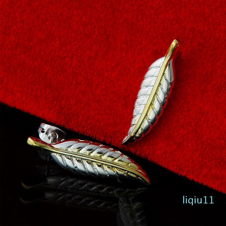 Vente chaude argent 925 feuilles Boucles d'oreilles pour les femmes