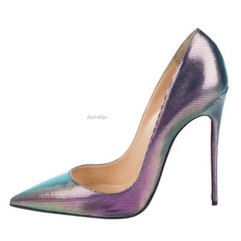 Designer Scarpe Sneakers Tacchi tacchi rossi Bottoms 8 10 12CM Vera Pelle Point Toe Pumps dimensione Rubber 35-42 L22
