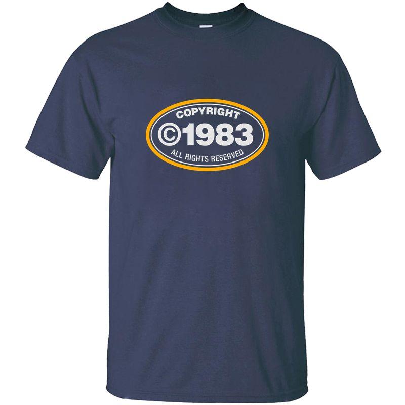 Drucken Mode Urheberrecht 1983 T-Shirt für Männer Natürliche Anti-Falten-O Ansatz Adult-T-Shirts 2020 Kurz-Hülse T-Shirt