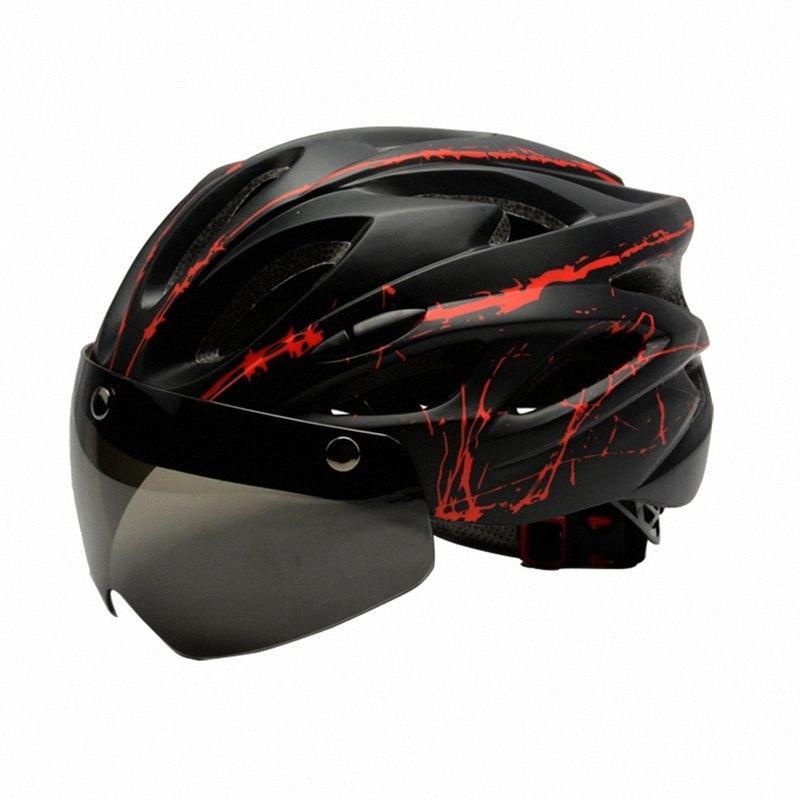 Велосипед шлем с Goggle Ultralight ветрозащитный велосипедный шлем с очки для Mtb дорожный велосипед AYhl #