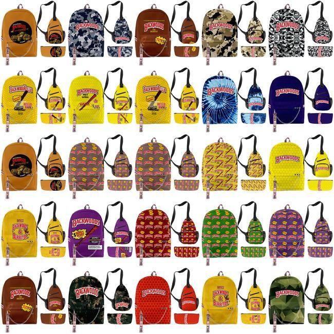 Sac Hommes Voyage portable Cigar Designer garçons nouveau sac à dos pour l'école Sac d'impression Backwoods d'épaule-Zélande Sac Backwood Backwoods azPHr tophw