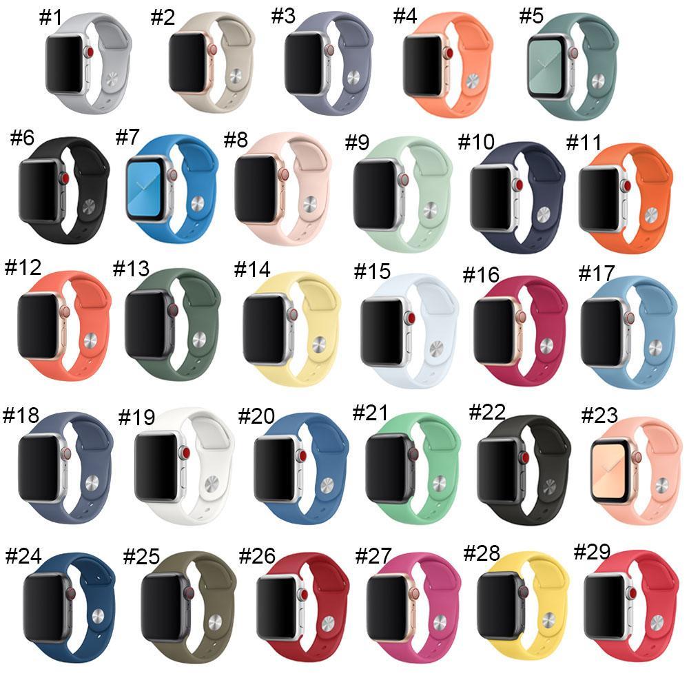 Últimas Strap Para a Apple faixa de relógio 38 milímetros 40 milímetros 42 milímetros 44 milímetros Botão dobro borracha de silicone iWatch Strap Para a Apple Series Assista 4,3,2,1 alta qualidade