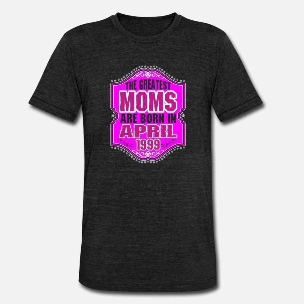 Les mamans plus grands sont nés en avril 1999 t shirt homme personnalisé 100% coton ras du cou de base solide Respirant Printemps Automne normal chemise