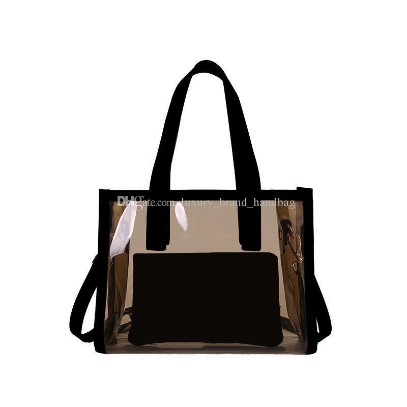3A فاخر مصمم محفظة الكلاسيكية حقيبة يد السيدات أزياء شفافة قابض حقيبة جلد ناعم رسول أضعاف حقيبة يد حقيبة fannypack مع مربع