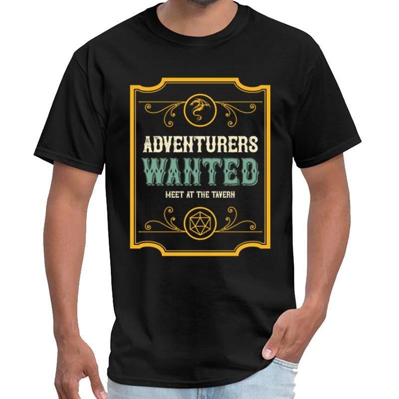 Imprimir Procuram-se aventureiros Tabletop RPG Viciado simpsons camisetas femininas camisa rhude t tamanho grande macho s ~ 5XL pop tee topo