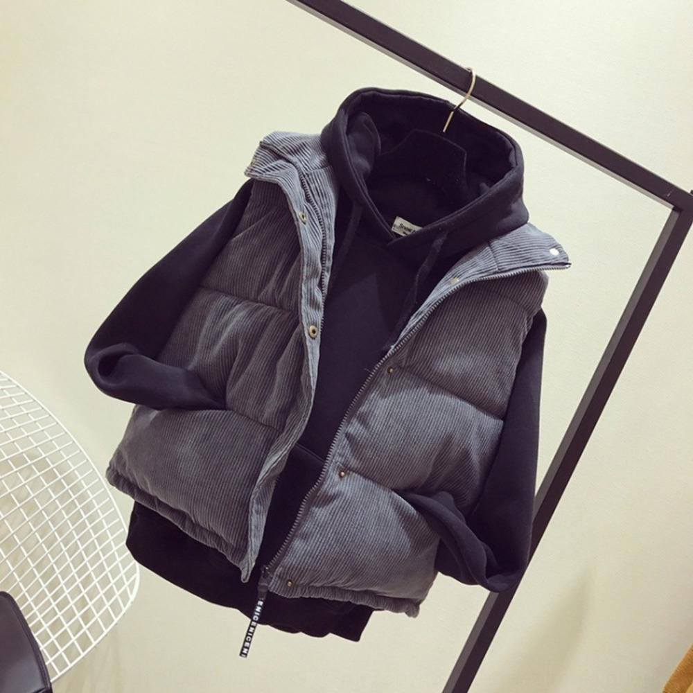 Pan capa del chaleco del chaleco de espesado pan floja corta de las mujeres 2020 otoño y el invierno Nueva Corea algodón sin mangas del chaleco de estilo