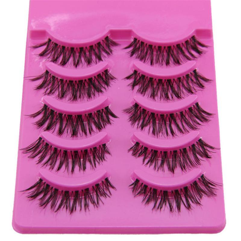 OutTop Instruction of Usage best seller Sale! 5 Pair Handmade Messy Natural Cross False Eyelashes Perfect Eye Lashes D301104