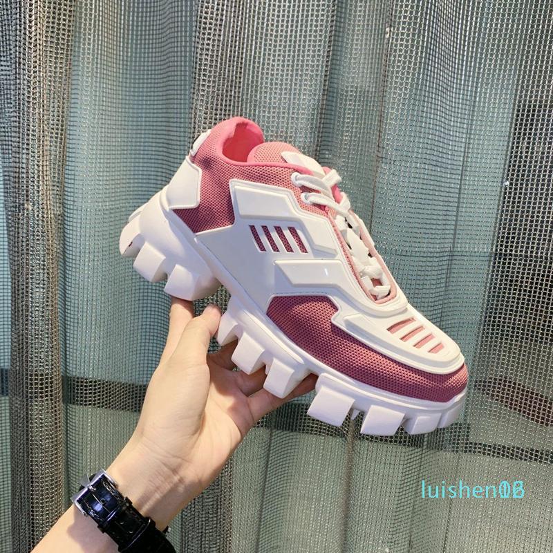 2020 NOUVEAU Luxury Designer Chaussures Hommes sport et de femmes des hommes Chaussures à semelles épaisses à lacets et européenne Chaussures Gym American Star AL01 L16
