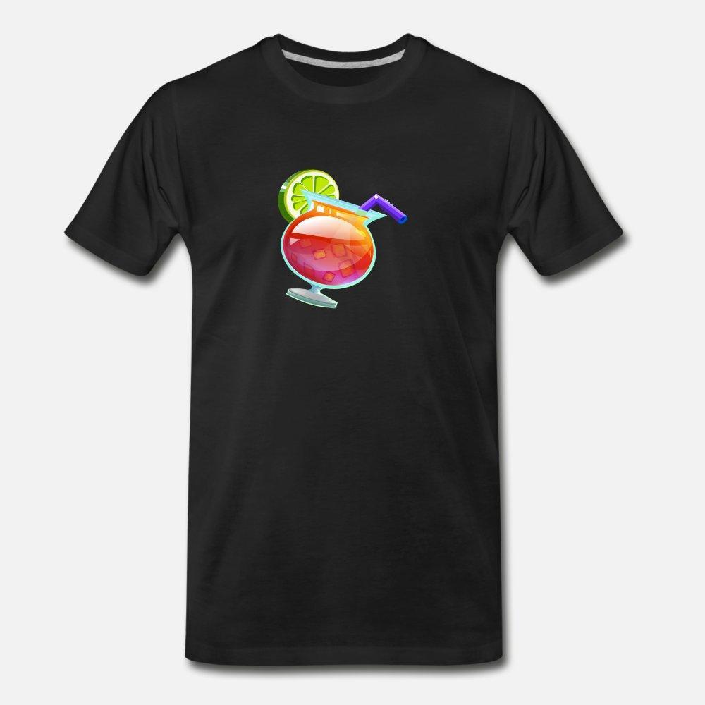 l'image de jus de boisson cocktail alcool vecteur bande dessinée t shirt homme t-shirt personnalisé Euro Taille S-3XL originale en vrac respirante printemps chemise