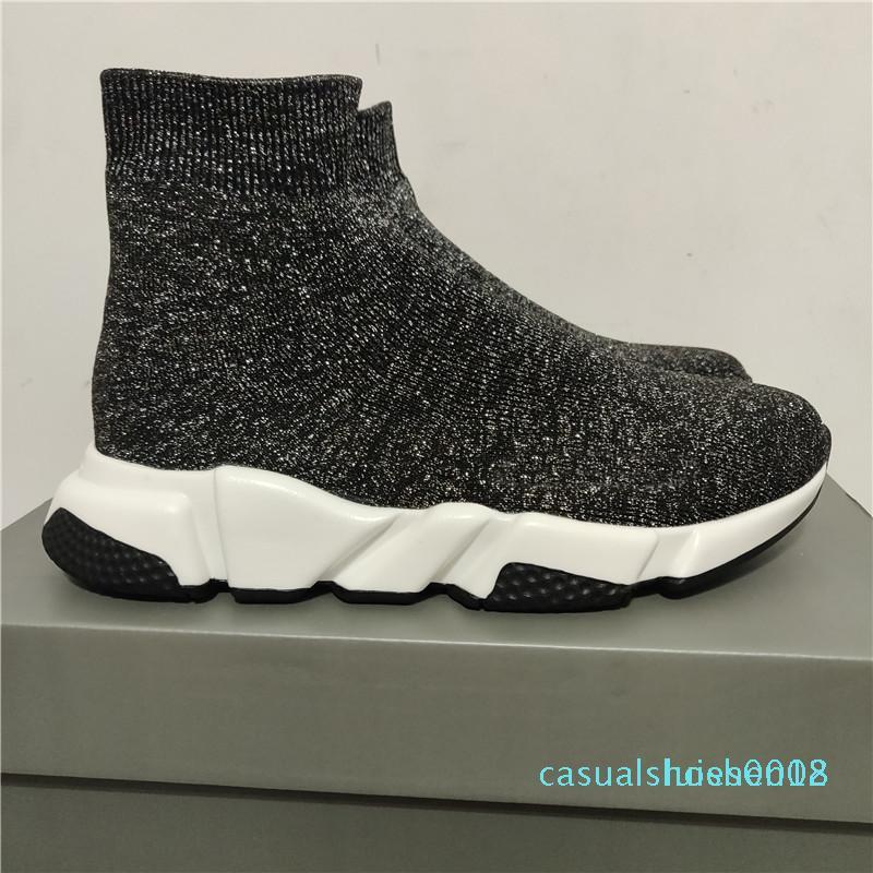 2020 nuovi Designer Shoes Velocità Runner Trainer Nero Rosso Oreo Triple Nero piani di modo Calzino casuale stivali c18 Sneaker