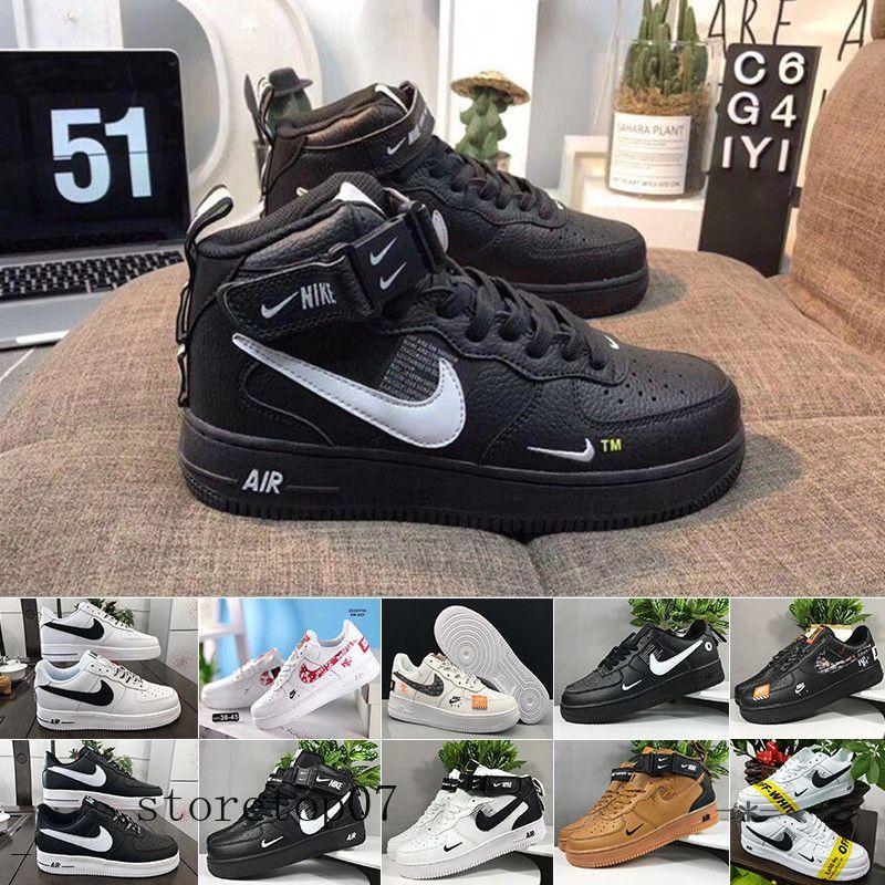 Nike Air Force 1 One Af1 Envío libre de los hombres de los zapatos corrientes Froced 1 hombres bajo las zapatillas de deporte para hombre de las fuerzas propias entrenadores dep