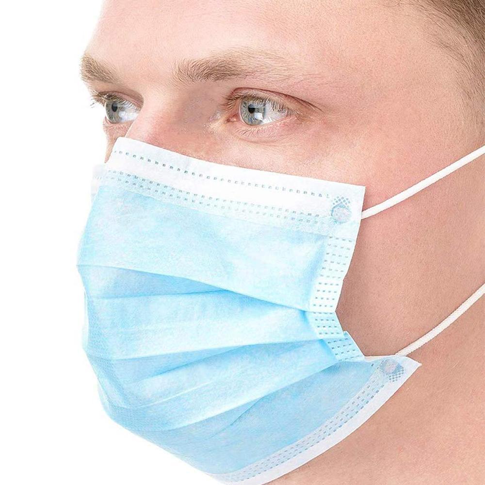 Stock de envío Crhnj Larraop en la mejor máscara protectora desechable cara transpirable rápido 50 unids / caja desechable polvo de calidad no tejido bkmos