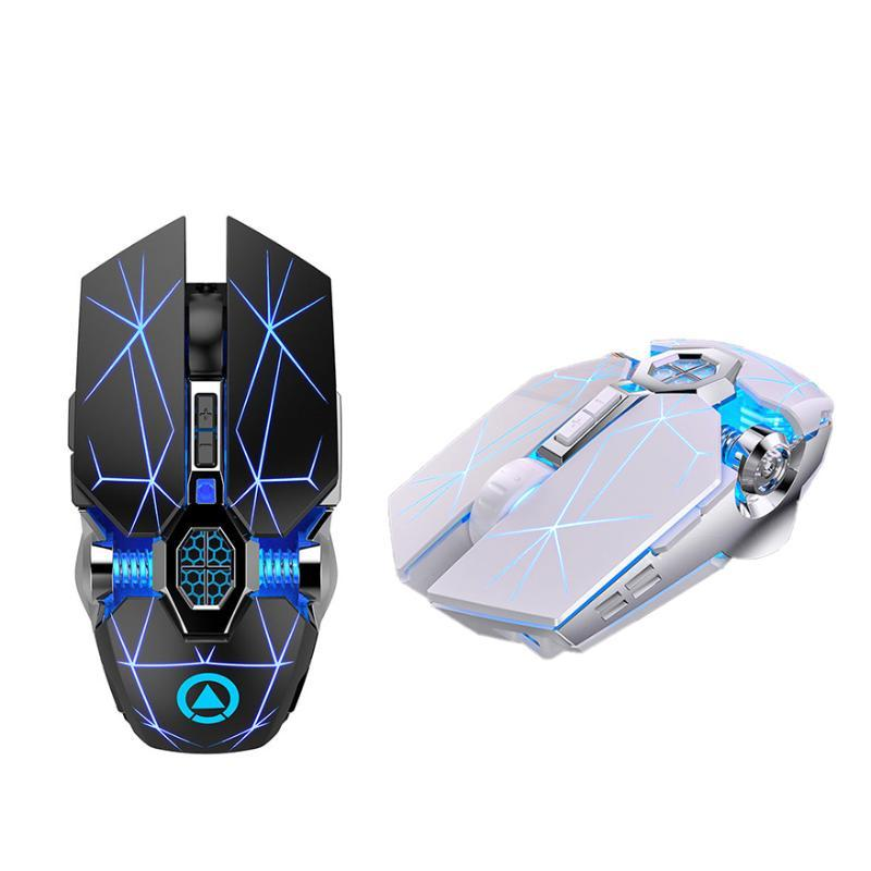 YINDIAO Wireless Gaming Ergonomic Mouse 7 Chaves LED 1600 DPI Computer carga Gamer Mice silencioso para PUBG FPS Jogo