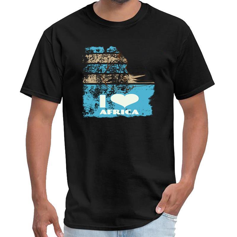 Baskılı Gergedan I Love Afrika Rhino tişört homme homme ropa hombre t gömlek s-6XL desen
