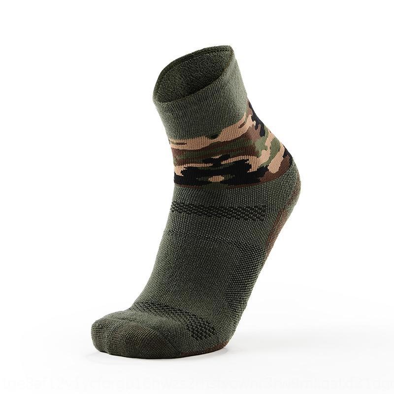 MEIKAN-Terry llena de lana de camuflaje al aire libre engrosado senderismo lana calcetines de lana de lana de deportes de los hombres en bicicleta mediados de la pierna corriendo calcetines TbPsS