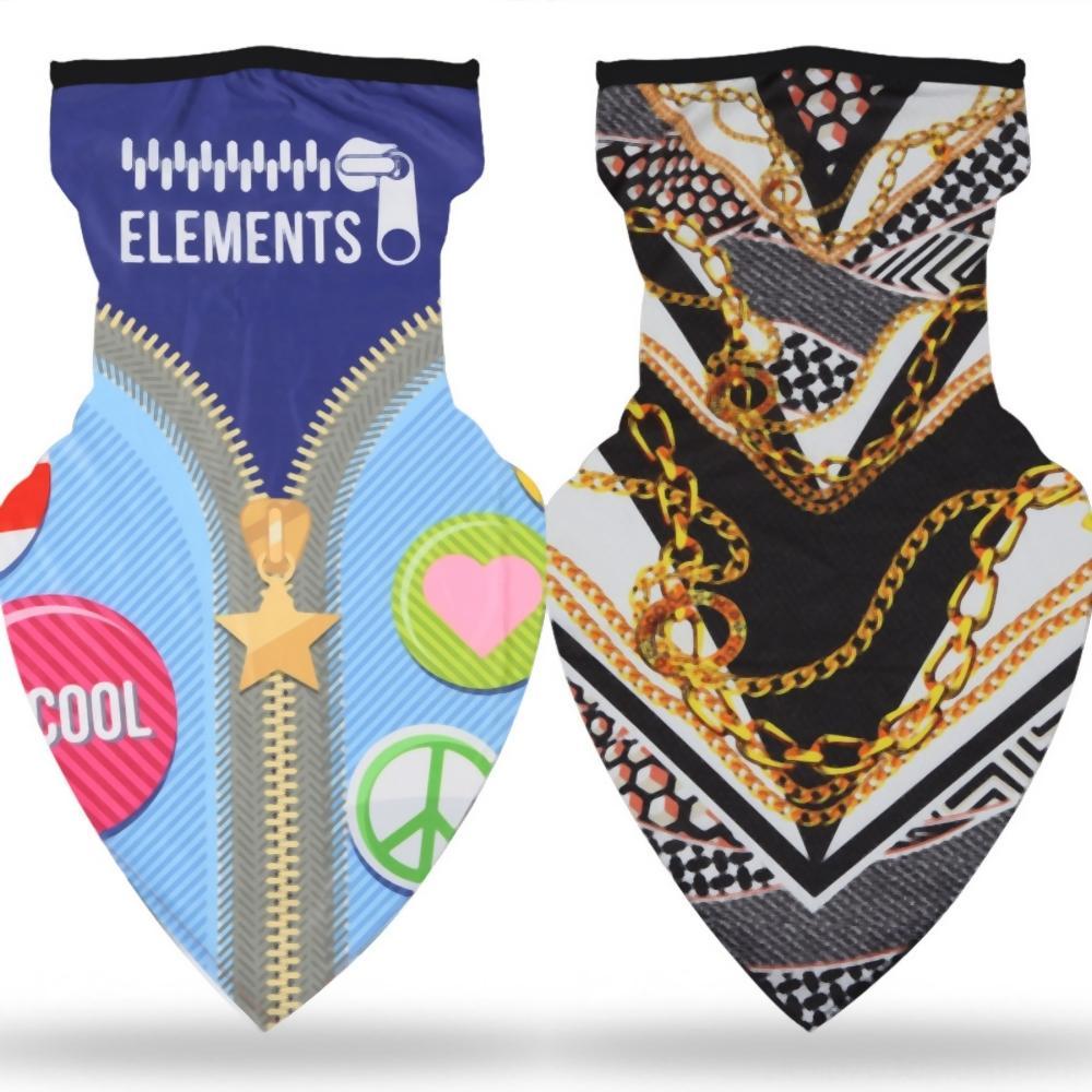 Al aire libre de la banda de la bufanda del pañuelo Cabello Protector Solar Deporte Ciclismo Headwear venda de múltiples funciones de seda de hielo triángulo bufanda de impresión personalizada que TeI65
