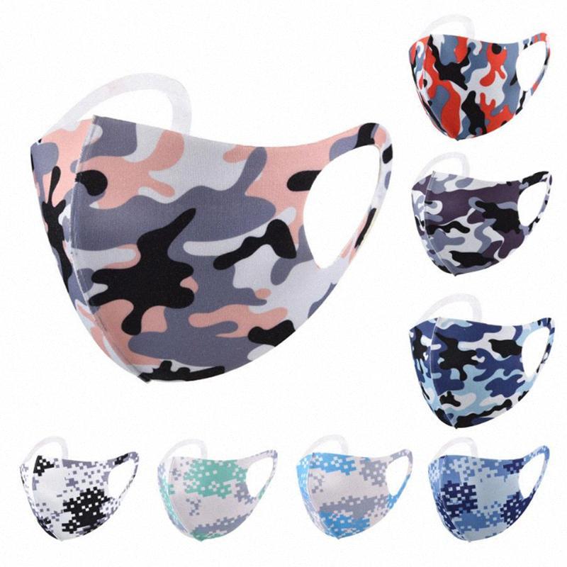 yetişkin yüz yeniden yıkanabilir karikatür kamuflaj maskeleri buz ipek nefes Tasarımcı Maskeler DHB875 zZpK # toz geçirmez güneş koruyucu maske