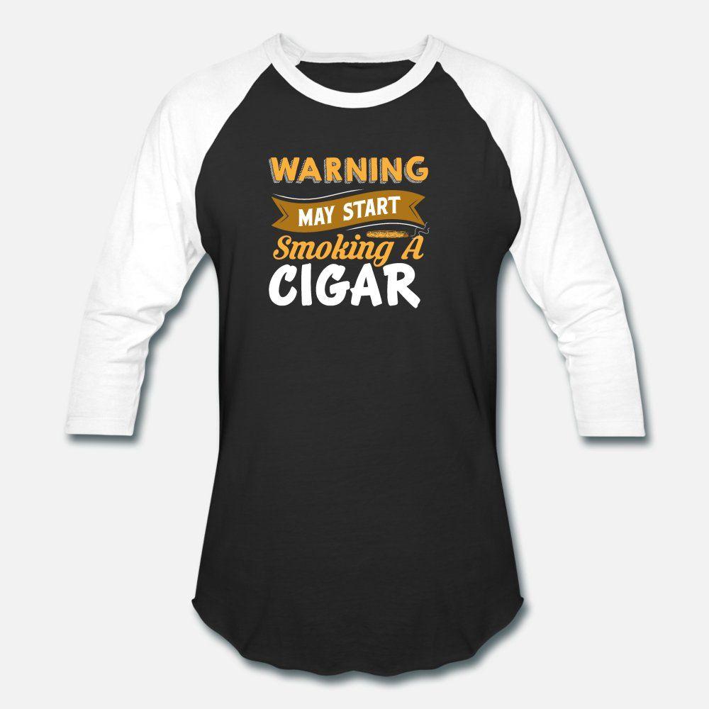 Attenzione maggio iniziano a fumare un sigaro uomini della maglietta maglia 100% cotone S-3XL camicia Outfit famoso edificio Primavera Autunno Tempo libero