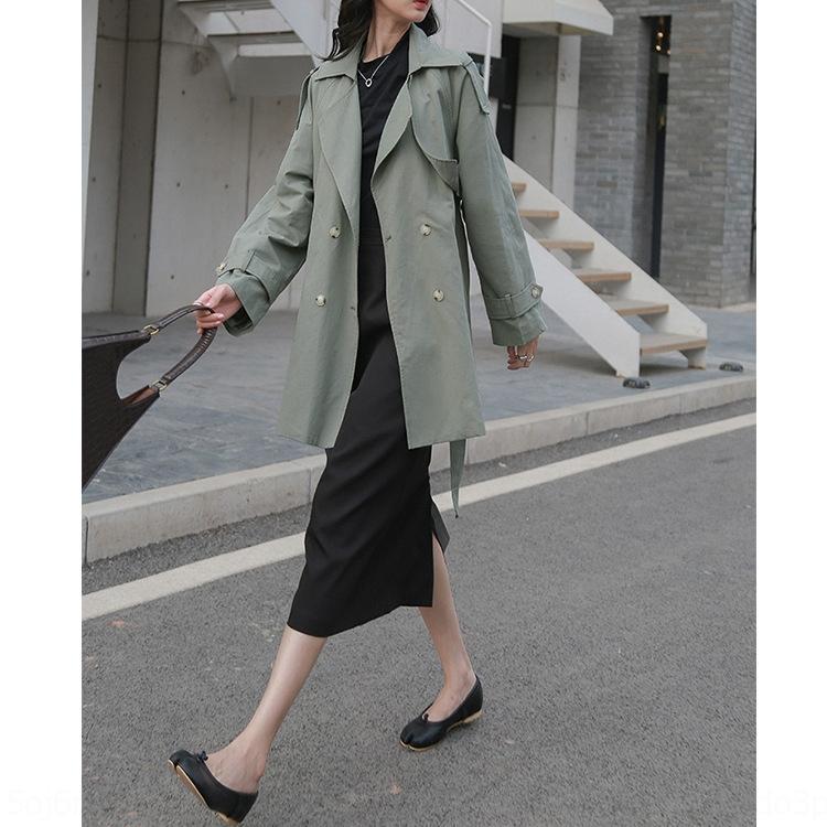 l0KAJ MT9i7 kurzen Frühling Windjacke kurz der neuen Frauen der koreanischen Art der Frauen Trenchcoat 2020 Mantel urban Freizeit Einreiher Kragen 8