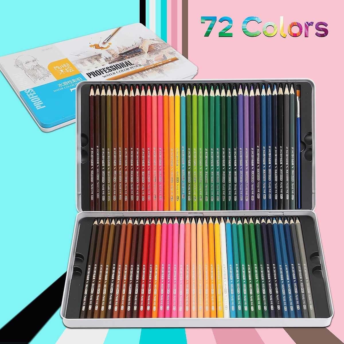 Buntstift Kunst Lapis de Cor 72 Kerne Profissional Buntstifte 72 Lapis Künstler Crayons Sketch Bleistifte Großhandel Y200709