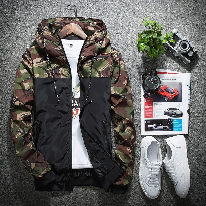 hZnnF Best-venda Hoodie casaco de mangas compridas hoodie do ajuste magro dos homens da moda costura explosão da juventude do revestimento dos homens de camuflagem