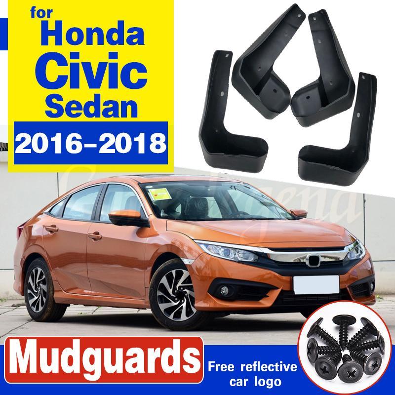 Car Wheel Fender doux ciment résine Bavettes Garde-boue Accessoires 4 pièces / set Pour Honda Civic 2018 2017 2016
