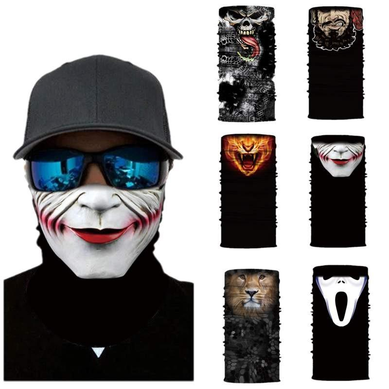 Başörtüsü Komik Sihirli Eşarp Boyun Yüz Baskı 3D Sihirli Başörtüsü Açık Güneş kremi Windproof Yıkama Havlu Maske Maske