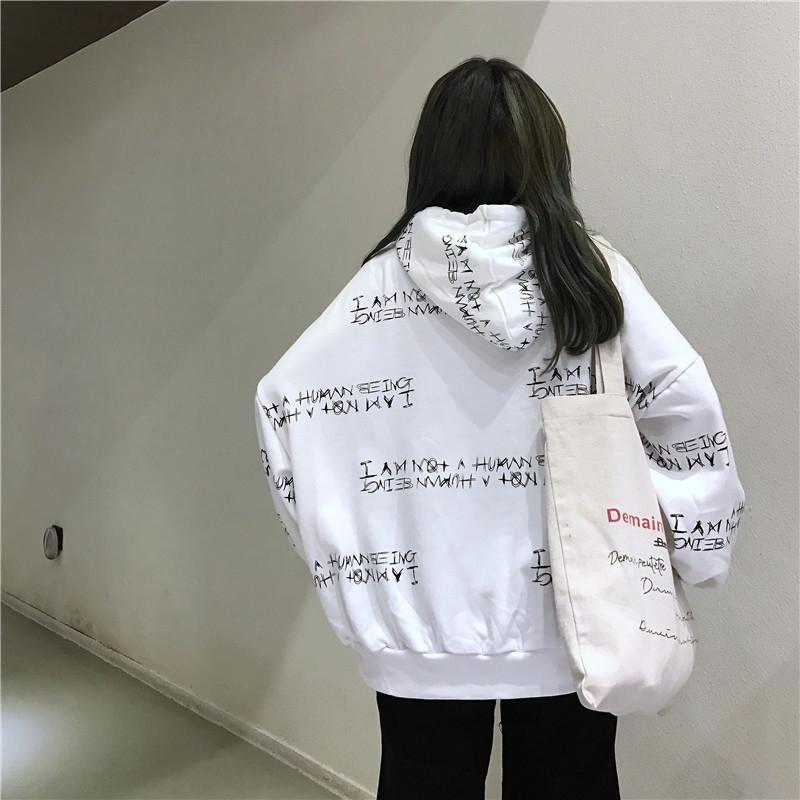 Harajuku estilo digital de lN8Dr capa estudiantes suelta la capa encapuchada coreana digital de manga larga para la moda del todo-fósforo bfstyle