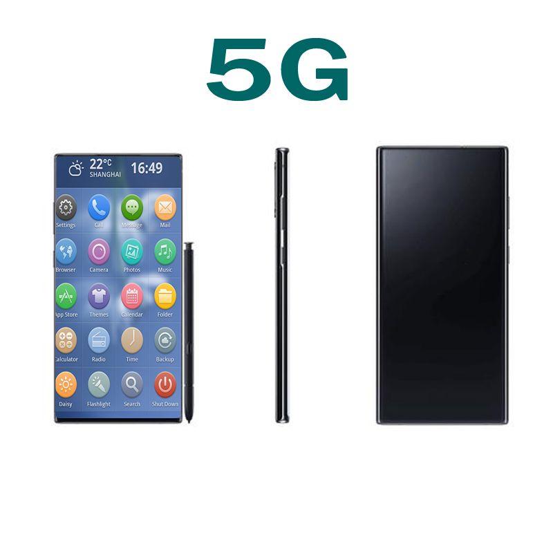 Goophone N20 + 6.7inch Quad Núcleo MTK6580 1G RAM 4G / 8G ROM Mostrar 5G Andorid Celular Bluetooth WiFi Câmera desbloqueada Smartphone