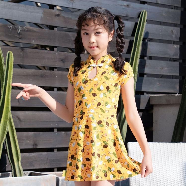 un pezzo a due pezzi 2020 nuovi ragazze di fiore costume da bagno set costume da bagno floreale Hot bambini Spring Holiday