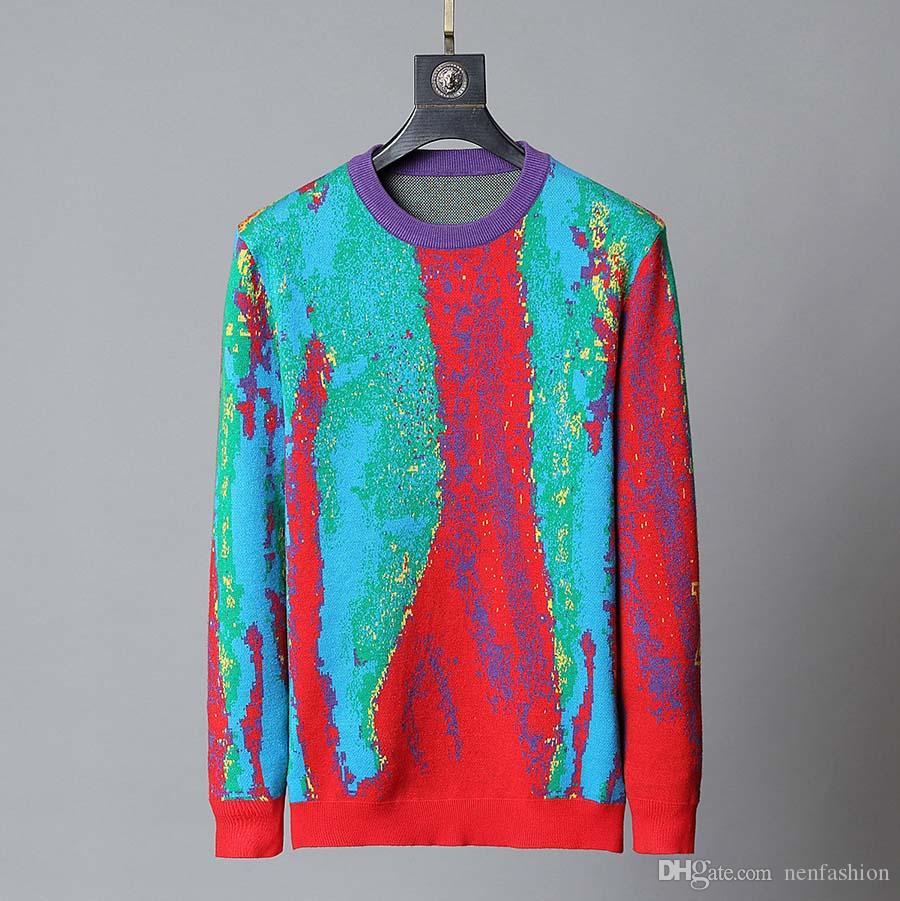 Moda suéter iv letras suéteres suéter caliente hombres o cuello sintéutico suéteres delgado ajuste jersey hombres y mujeres ropa de punto collar masculino m-3xl